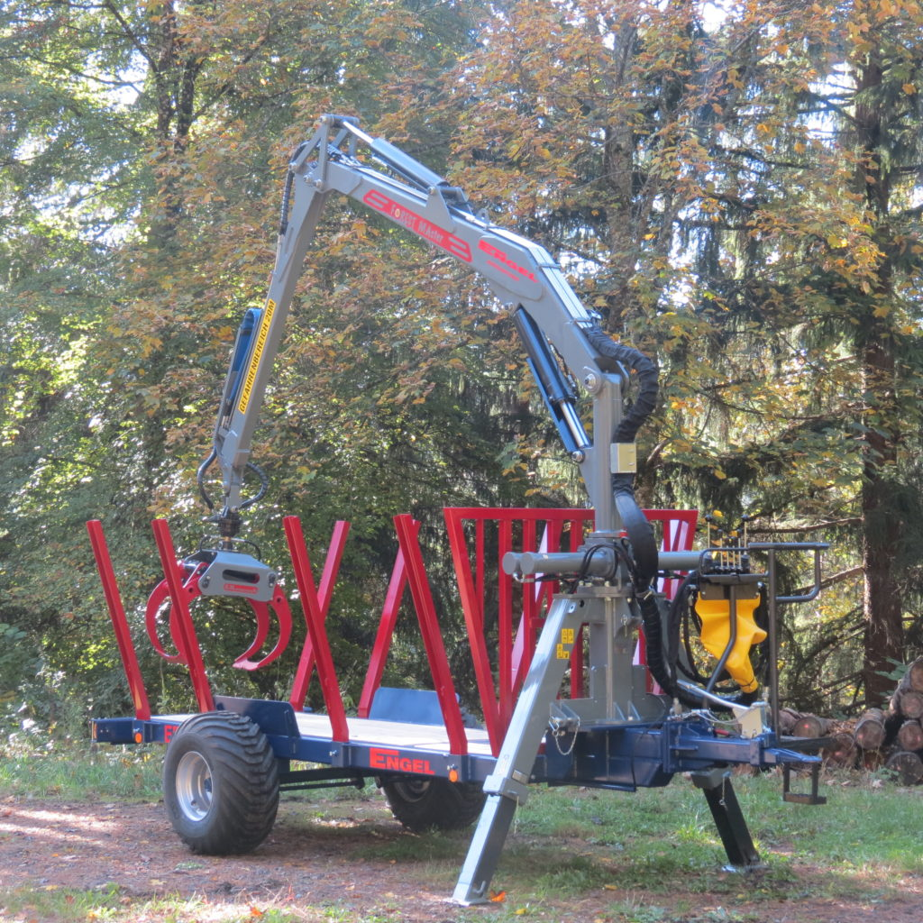 Einachs-Rückewagen ERW 7 mit FK 6600 1