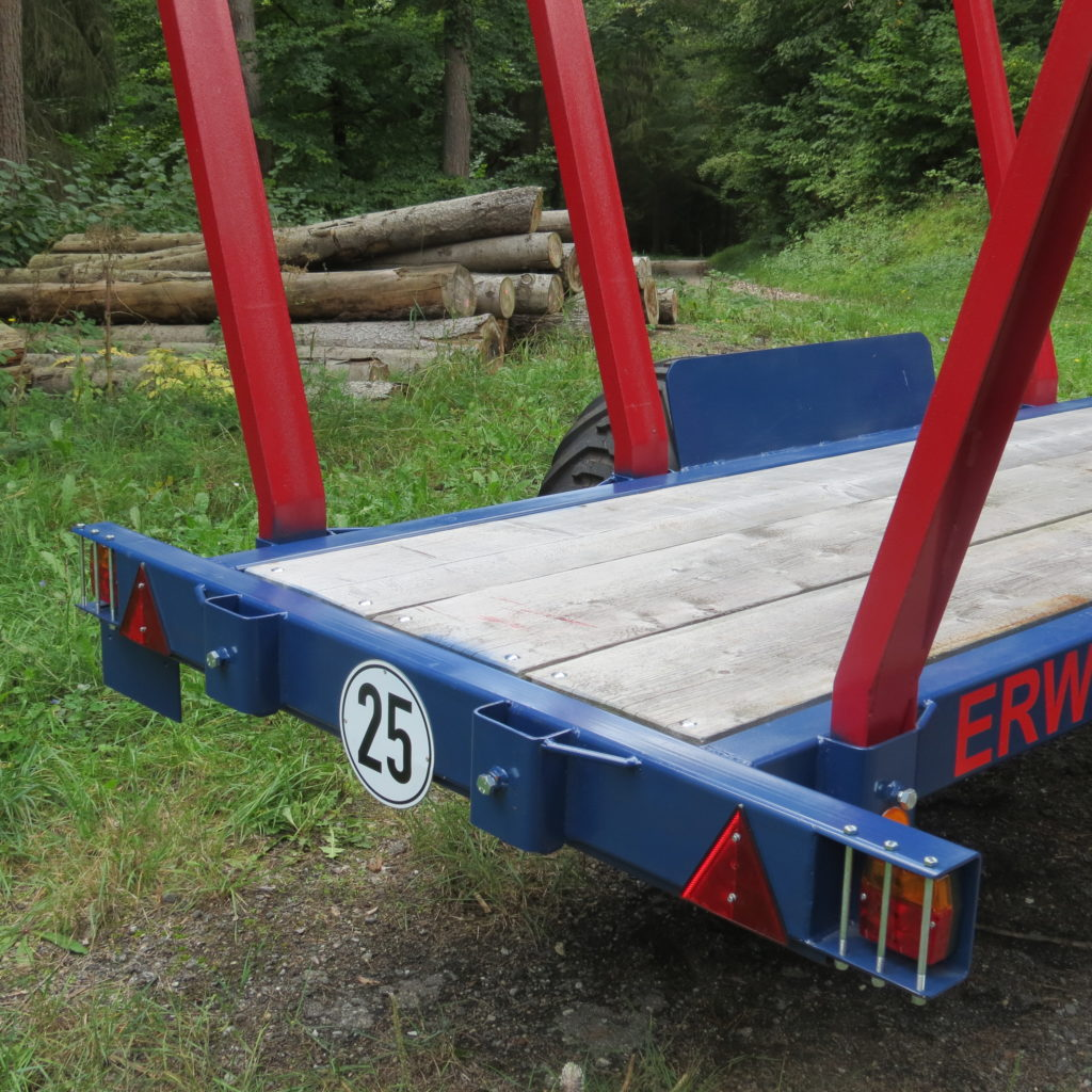 Einachs-Rückewagen ERW 6 mit FK 6100 3